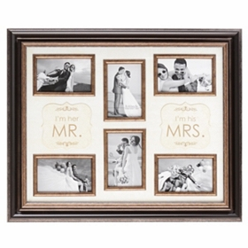 Mr & Mrs 6-Opening Collage Frame