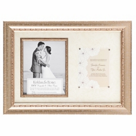 Gold Wedding Invitation Picture Frame, 8x10