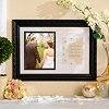 Black Wedding Invitation Picture Frame, 8x10