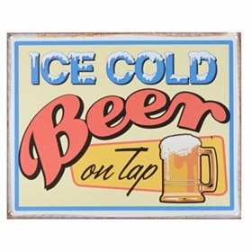 Ice Cold Beer Wall Plaque
