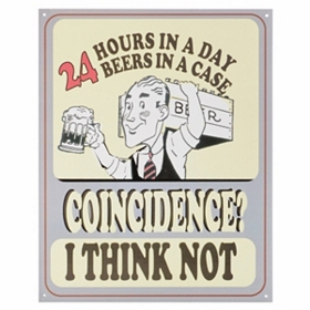 24 Beers Wall Plaque