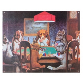 Poker Dogs Wall Plaque