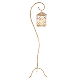 Rusted Freestanding Outdoor Lantern