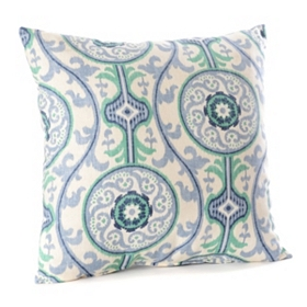 Suzanni Blue & Green Pillow