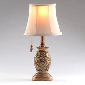 Gold Scroll Mini Table Lamp