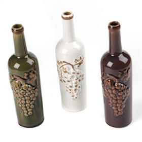 Crackled Glaze Wine Bottle Vase