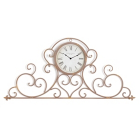 Bella Gold Scroll Clock