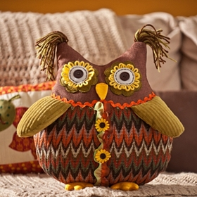 Chevron Owl Pillow