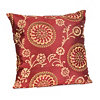 Suzani Crimson Red Floral Pillow