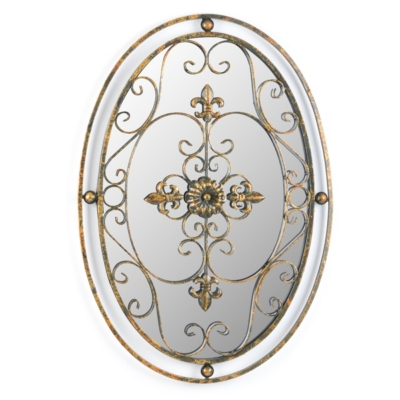 Oval Mirror Wall Plaque