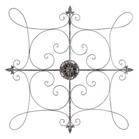 Highland Scroll Metal Wall Art