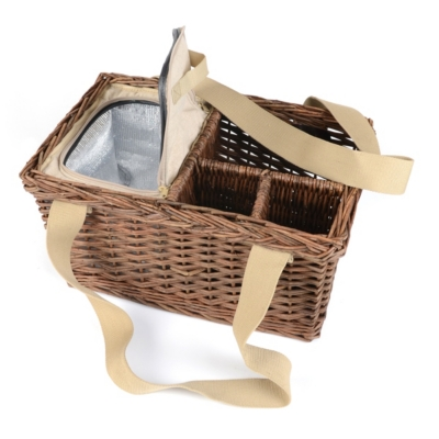 Insulated Willow Picnic Basket