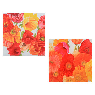 Persimmon Outdoor Canvas Art Print, Set of 2