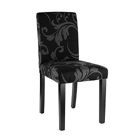 Black Damask Parsons Chair