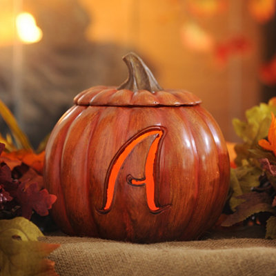 Pre-Lit Monogram A Pumpkin