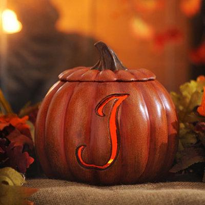Pre-Lit Monogram J Pumpkin