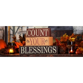 Count Your Blessings Word Block