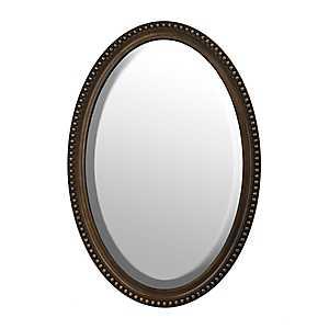 Bronze Oval Wall Mirror, 21x31