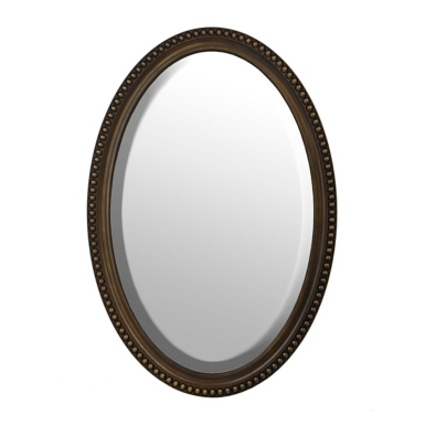 Bathroom Mirrors Kirklands bronze oval wall mirror, 21x31 | kirklands
