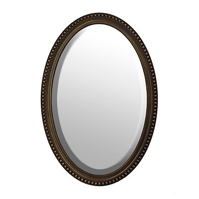 Bronze Oval Wall Mirror, 21x31