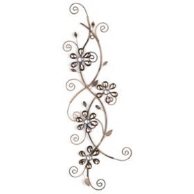 Alice Floral Vine Metal Wall Art