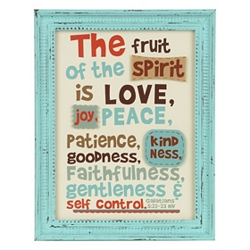 Fruit Of The Spirit Framed Wall Plaque