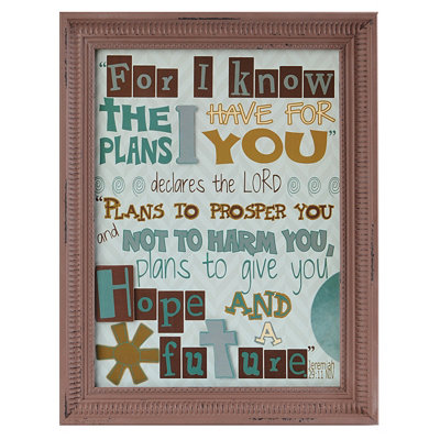 Plans Inspirational Framed Wall Plaque