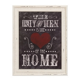 Kitchen Heart Framed Wall Plaque