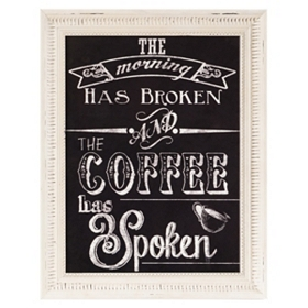 Coffee Has Spoken Framed Wall Plaque