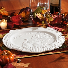 Ceramic Turkey Platter