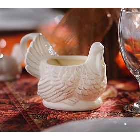 Ceramic Turkey Gravy Boat