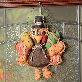 Burlap Turkey Hanging Wall Accent