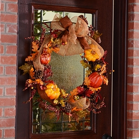 Glitter Pumpkin Wreath