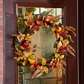 Fruit & Pine Cone Wreath