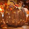 Pre-Lit Twig Pumpkin, 16x17
