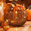 Pre-Lit Twig Pumpkin, 20x20