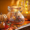 Autumn Floral Filled Lantern