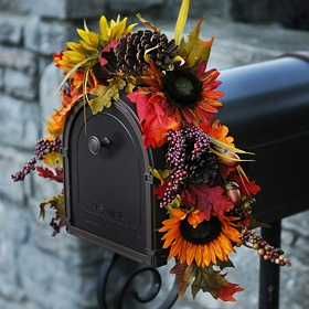 Sunflowers & Berries Mailbox Swag