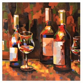 Wine Still Life Canvas Art Print