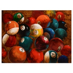Billiard Balls Canvas Art Print