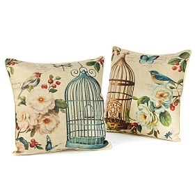 Birds in Bloom Accent Pillow