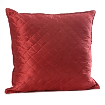 Crimson Red Quilted Diamond Pillow