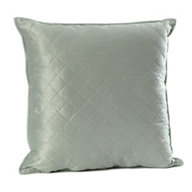 Slate Blue Quilted Diamond Pillow
