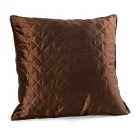 Chocolate Brown Quilted Diamond Pillow