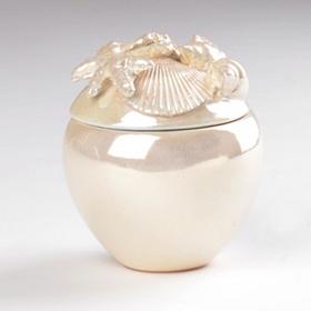 Ivory Pearl Ceramic Jar