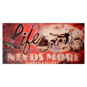 Life Needs More Green Lights Canvas Art Print