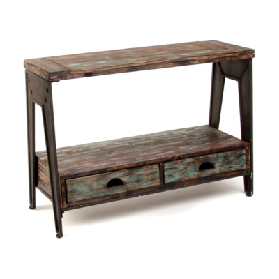 Rustic Work Horse Console Table