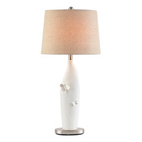 White Ceramic Butterfly Table Lamp