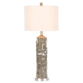 Taupe Gray Retro Ceramic Table Lamp