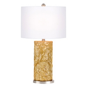 Harvest Leaf Gold Ceramic Table Lamp